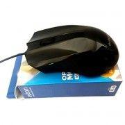 Mouse USB Clássico Preto Resolução 1000 DPI Exbom MS-60