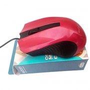 Mouse USB Clássico Vermelho Resolução 1000 DPI Exbom MS-60
