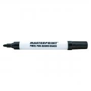 Pincel para Quadro Branco Traço 5mm Ponta Macia Apaga Fácil Masterprint MP617 Canetão Preto