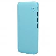 Power Bank Bateria Portátil 10000mAh com 3 Portas USB e Lanterna de LED Exbom PB-MX10 Azul