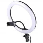 """Ring Light 12"""" 162 LEDs Dimerizáveis Suporte Flexível para Celular Não Acompanha Tripé Exbom R12W16"""