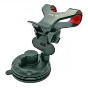 Suporte para Celular GPS com Clipe Duplo Abertura até 10cm Pinças com Silicone Rotação 360 Ventosa 70mm Exbom SP-26