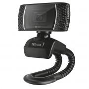 Webcam HD Video 720p 30fps 8MP com Microfone Integrado e Suporte Inteligente Flexível Trust Trino
