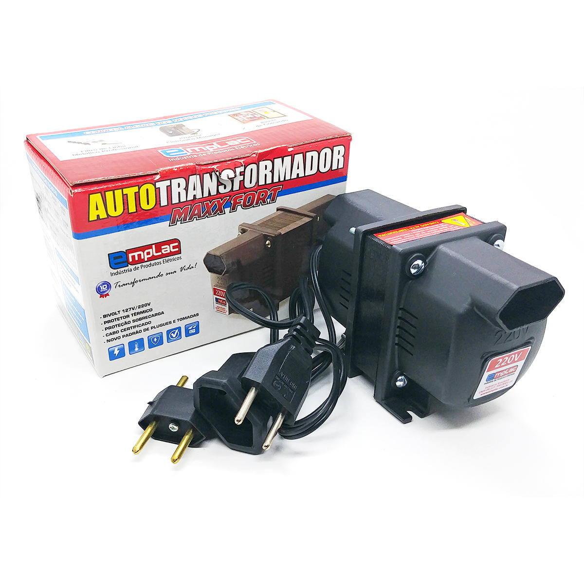 Auto transformador 200VA 140W Bivolt de Tomada 10A Emplac Maxx Fort F30003