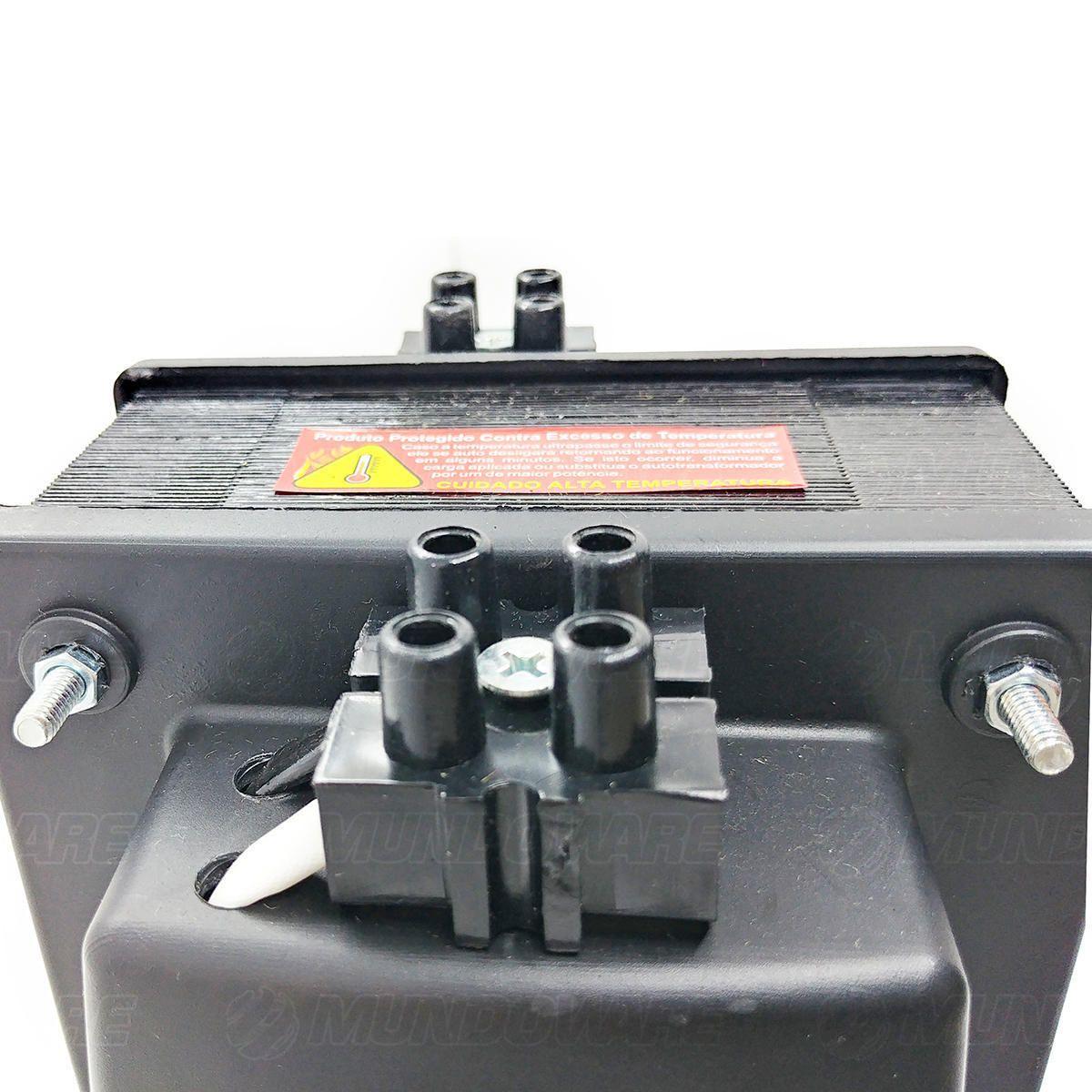 Auto Transformador 3000VA 2100W Bivolt de Borne com Protetor Térmico e Proteção Contra Sobrecarga Emplac F30012