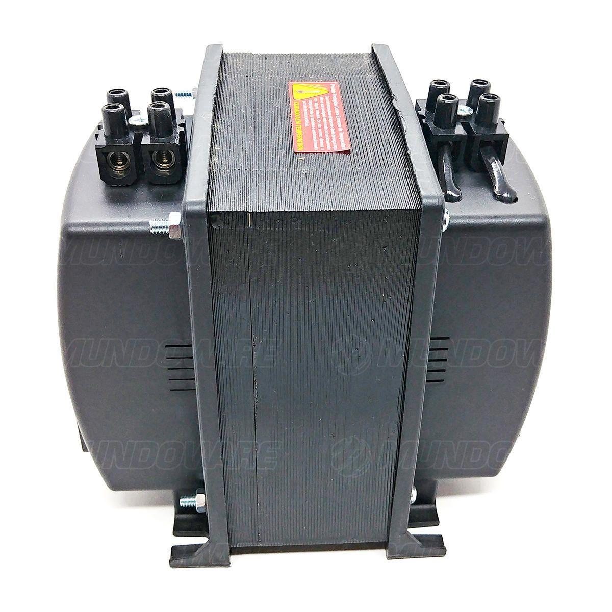 Auto Transformador 5000VA 3500W Bivolt de Borne com Protetor Térmico e Proteção Contra Sobrecarga Emplac F30013