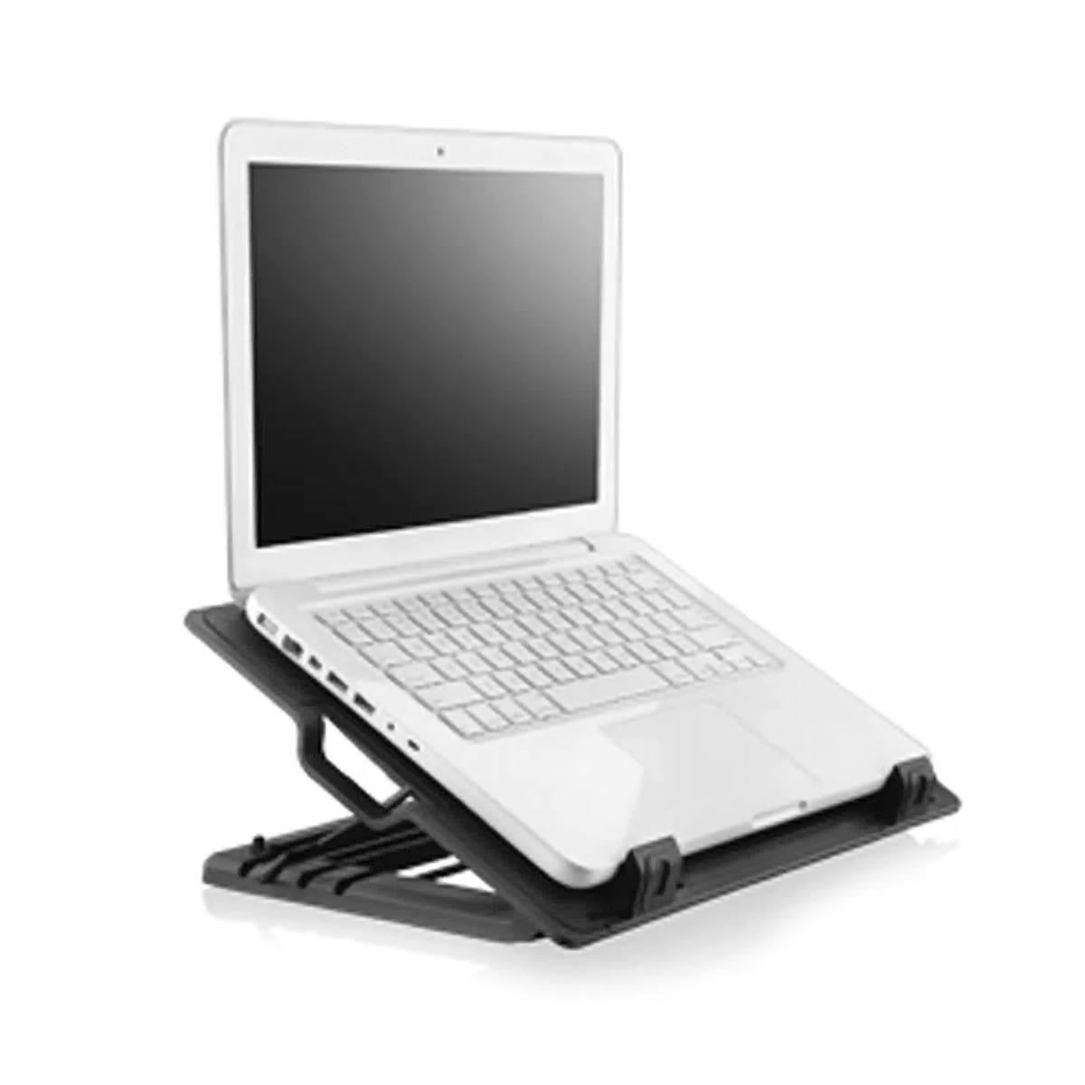 """Base para Notebook de 9"""" a 17"""" com Cooler Superfície em Metal 4 Ângulos de Inclinação 2 Portas USB Multilaser AC166"""