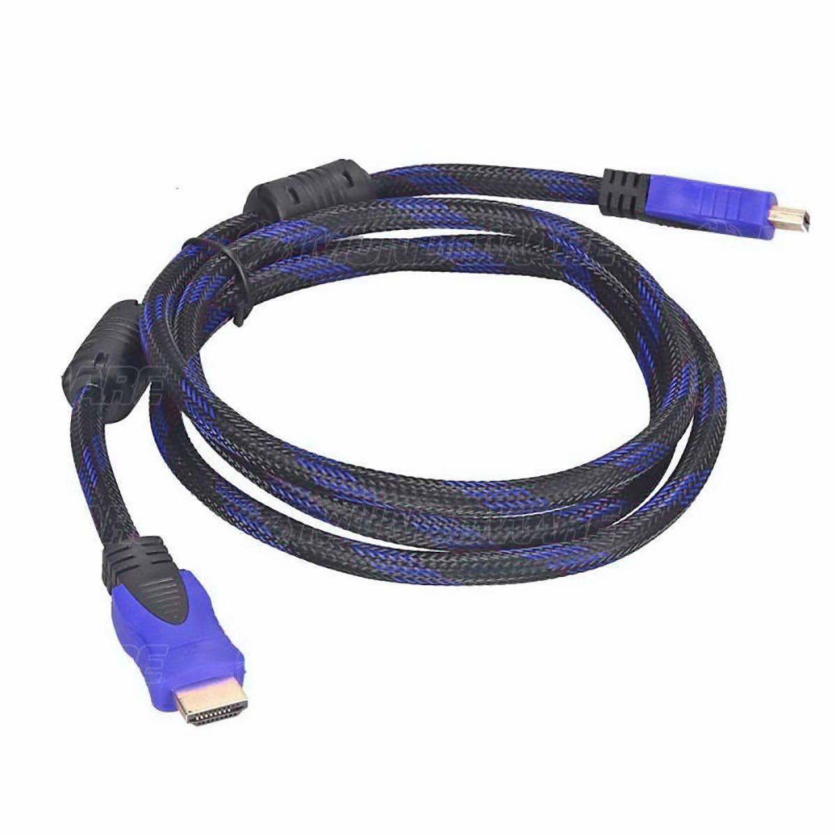 Cabo HDMI Blindado Versão 1.4 com 3 metros com Malha de Nylon e Filtro OD6.8 Exbom CBX-H30CM