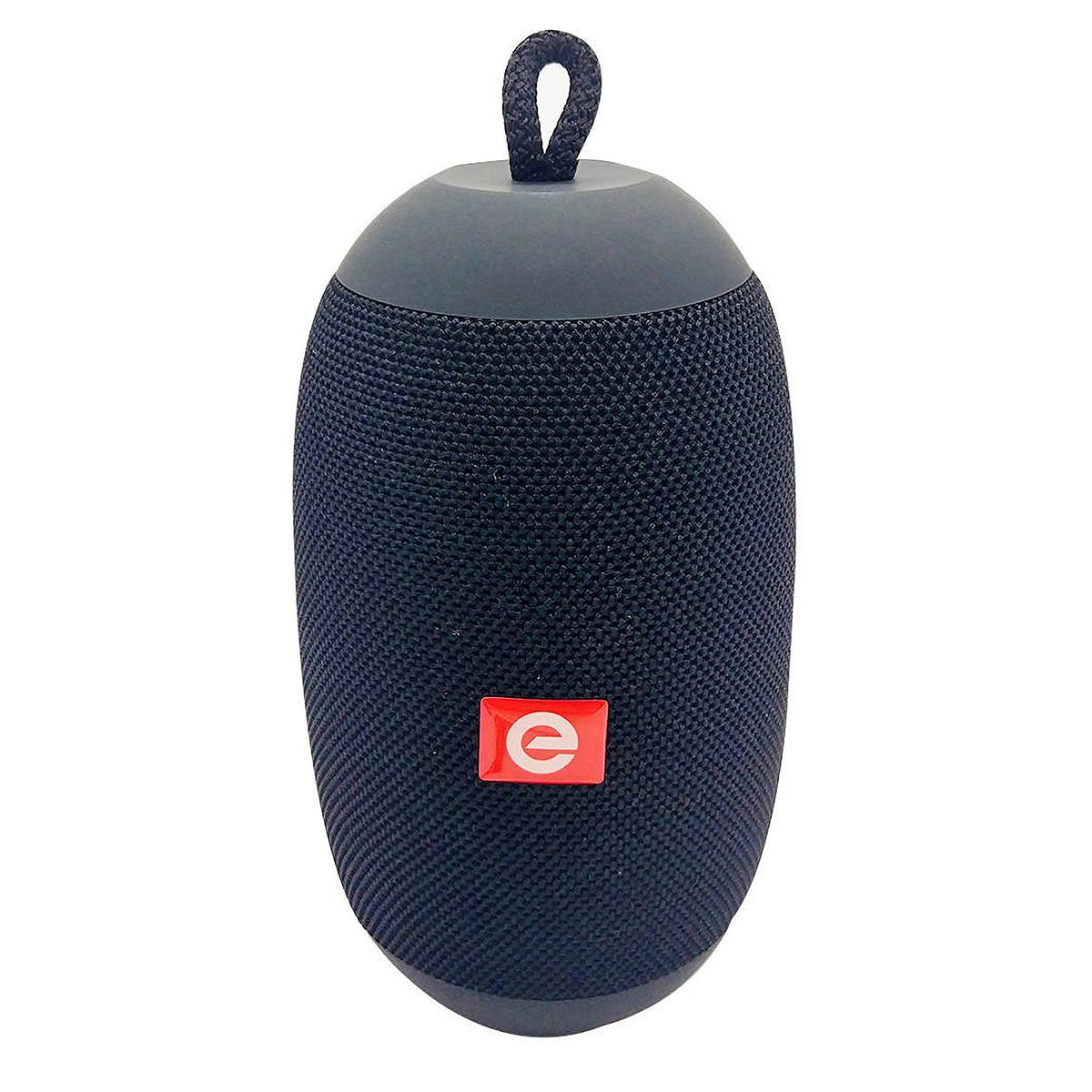 Caixa Bluetooth Oval Speaker com TWS USB SD Rádio FM 6W Microfone Exbom CS-M50BT Preta