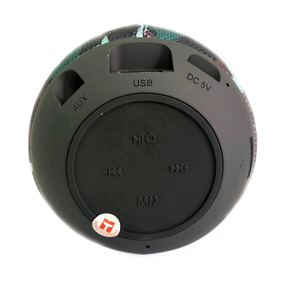 Caixa de Som Bluetooth Drum Speaker com TWS USB Micro SD P2 FM Função Atende Telefone Exbom CS-M26BT Camuflada