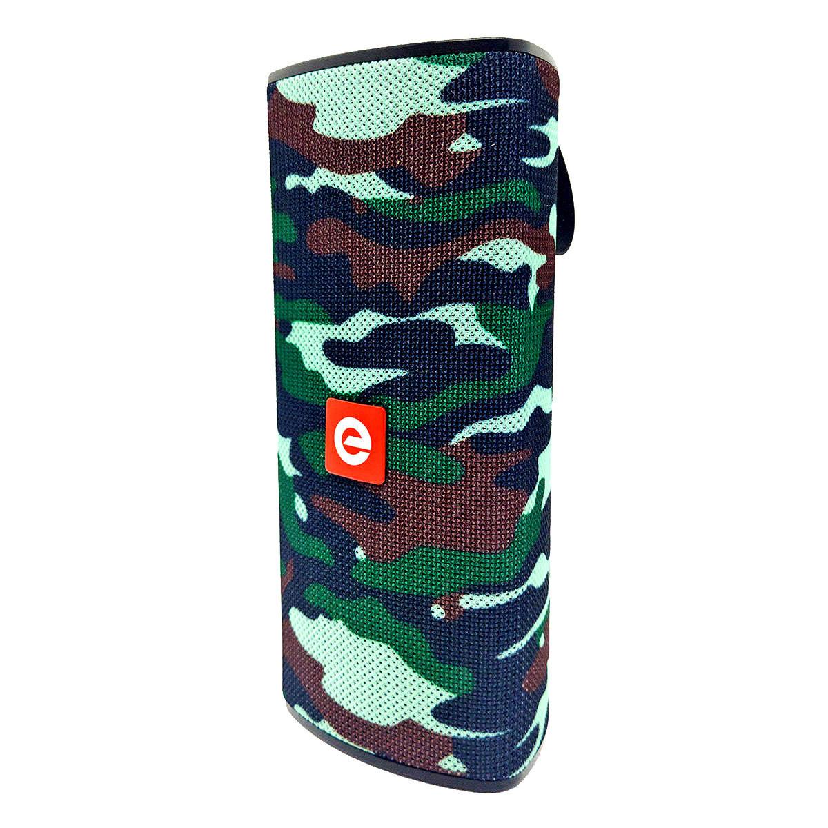 Caixa de Som Bluetooth Portátil 10W Entrada USB Micro SD Auxiliar P2 Mic Hands Free Exbom CS-M33BT Camuflada