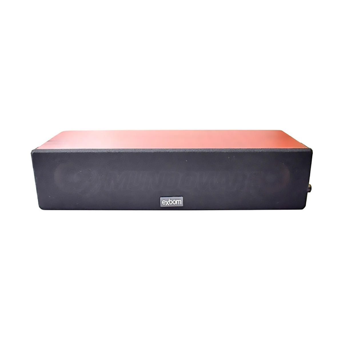 Caixa de Som com Bass em Madeira Marrom 8W Sound Bar para TV e Computador Exbom CS-200
