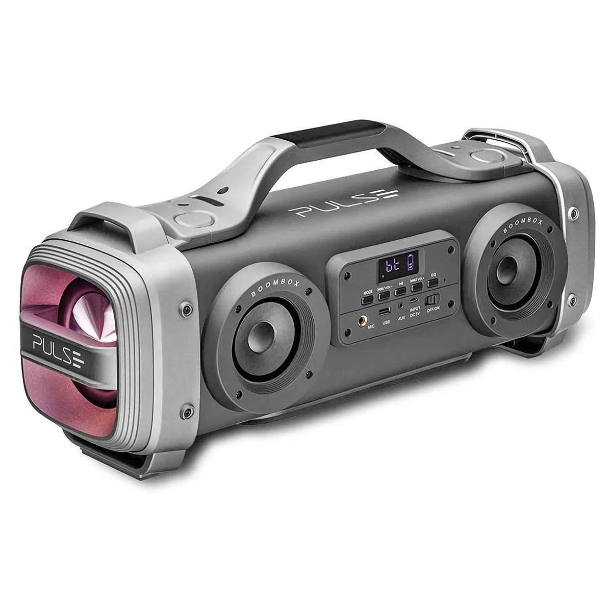 Caixa de Som Mega Boombox 440W 6 Alto-Falantes 2 Subwoofers e Radiadores Passivos Portátil Bluetooth Pulse SP363