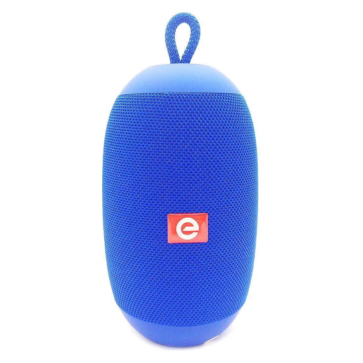 Caixa Oval Speaker Bluetooth TWS Estéreo com USB SD Rádio FM Microfone 6W Duplo Alto-Falantes Exbom CS-M50BT Azul