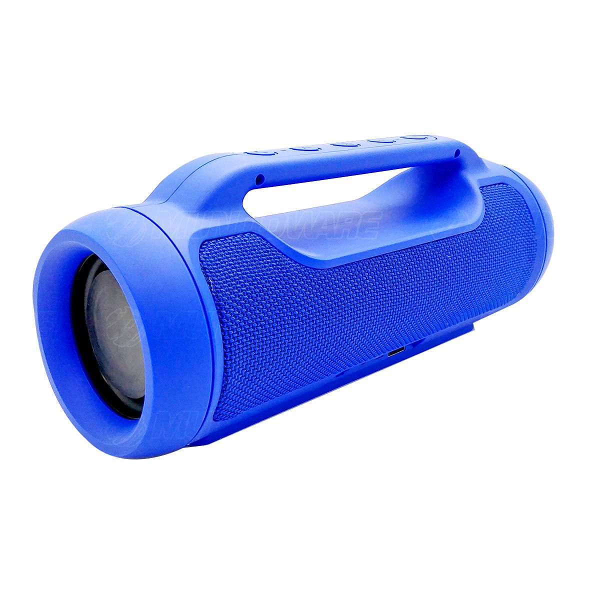 Caixa Portátil Bluetooth Soundbox Speaker com TWS FM P2 USB SD Mic 6W Duplo Auto-Falantes com Alça EXBOM M70BT Azul