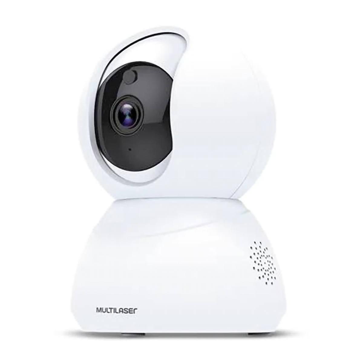 Câmera Robô Inteligente IP Wi-Fi Full HD Áudio Bidirecional Controle de Movimento e Auto Tracking Multilaser Liv SE221