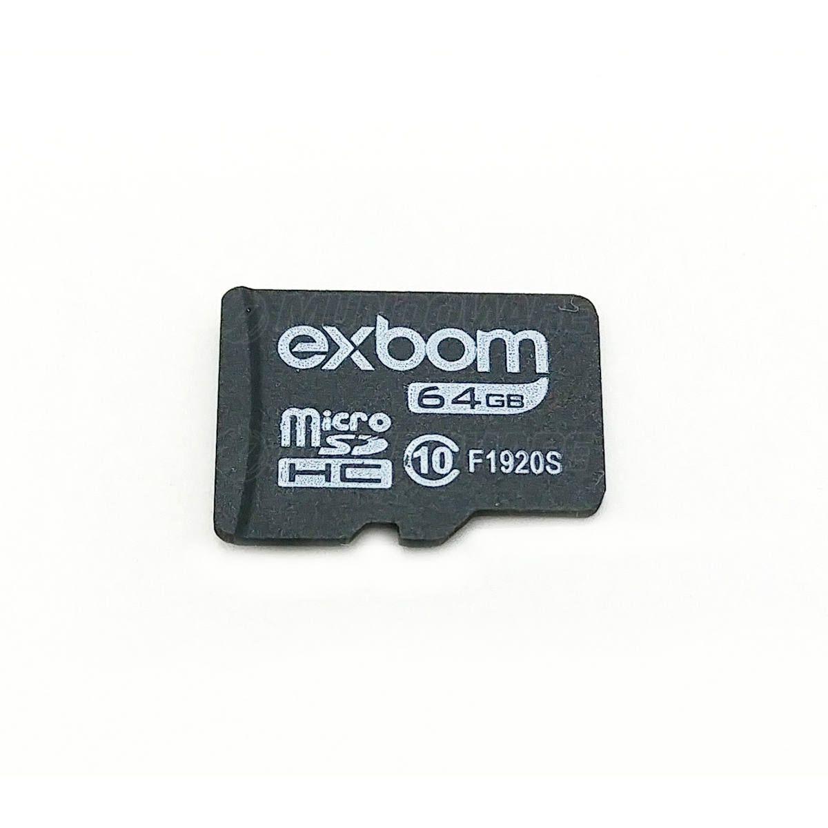 Cartão de Memória 64GB Micro SD Class 6 Memory Card Exbom STGD-TF64G