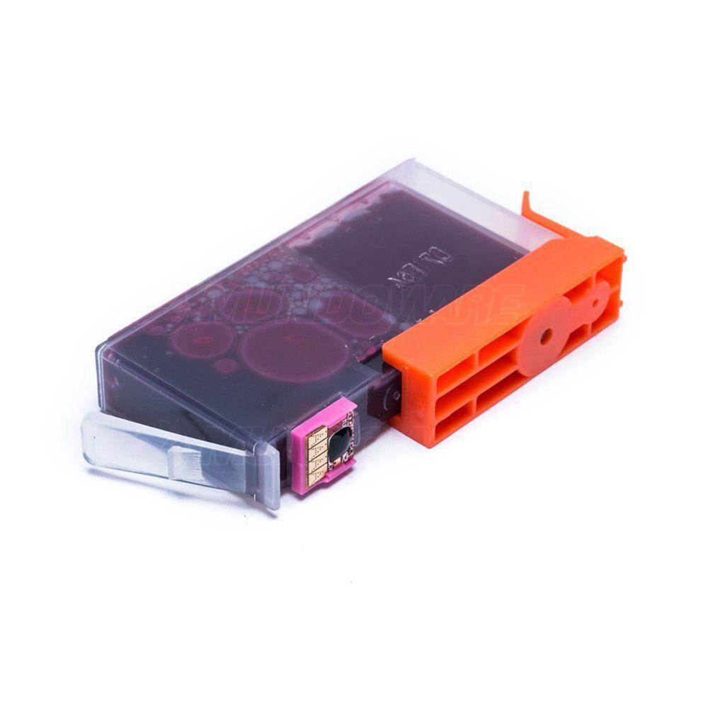 Compatível: Cartucho de Tinta 670xl 670 para Impressora HP 4615 4625 3525 5525 6520 6525 / Magenta / 14ml