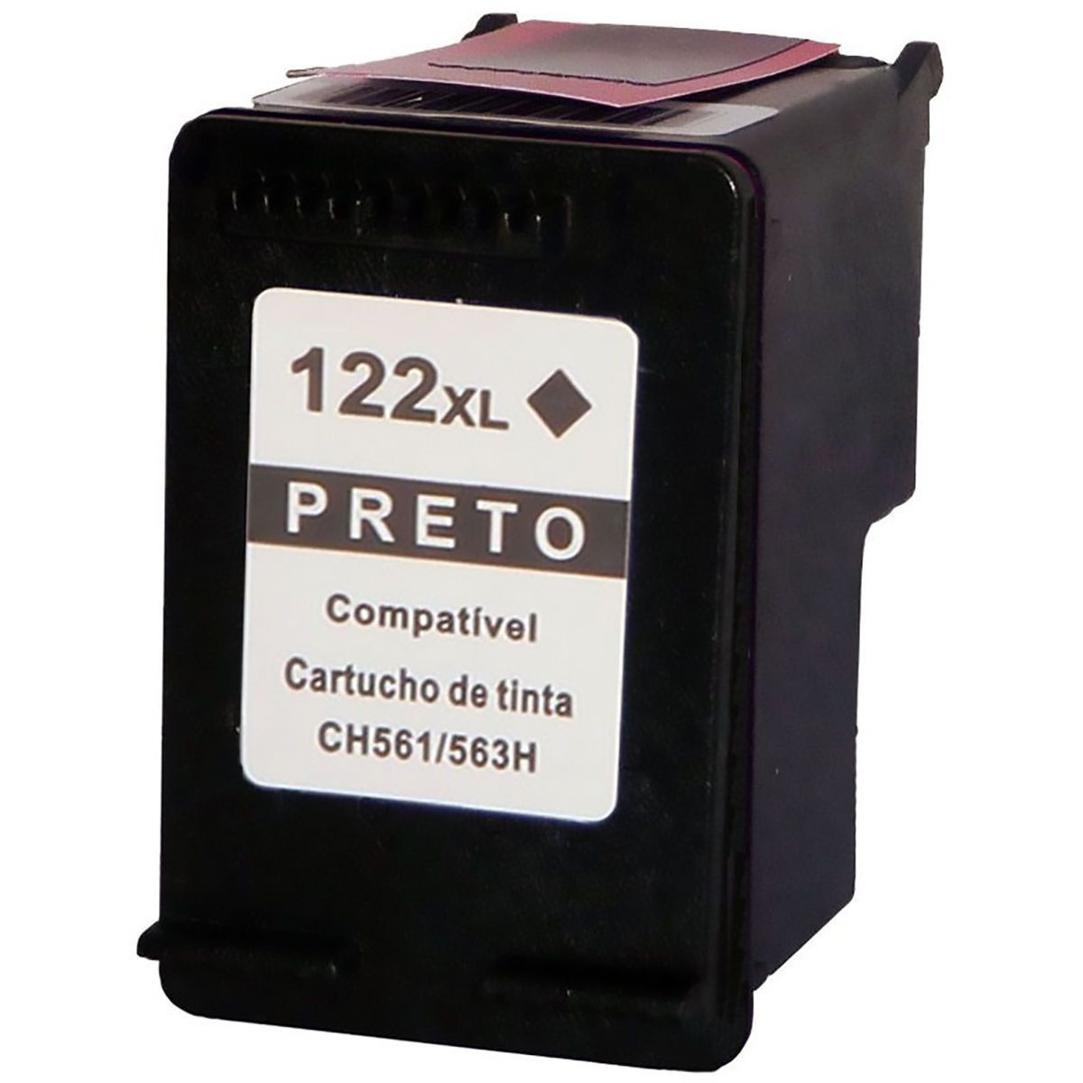 Compatível: Cartucho de Tinta 122xl 122 para Impressora HP 1000 1050 1055 2000 2050 3000 3050 3050a / Preto / 12ml