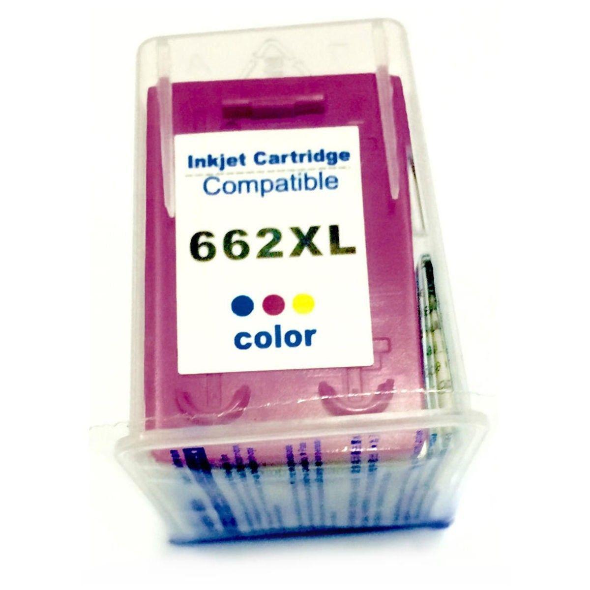Compatível: Cartucho de Tinta 662xl 662 para HP 2515 2516 3515 1516 3546 3516 2546 2545 1515 4646 / Colorido / 10ml