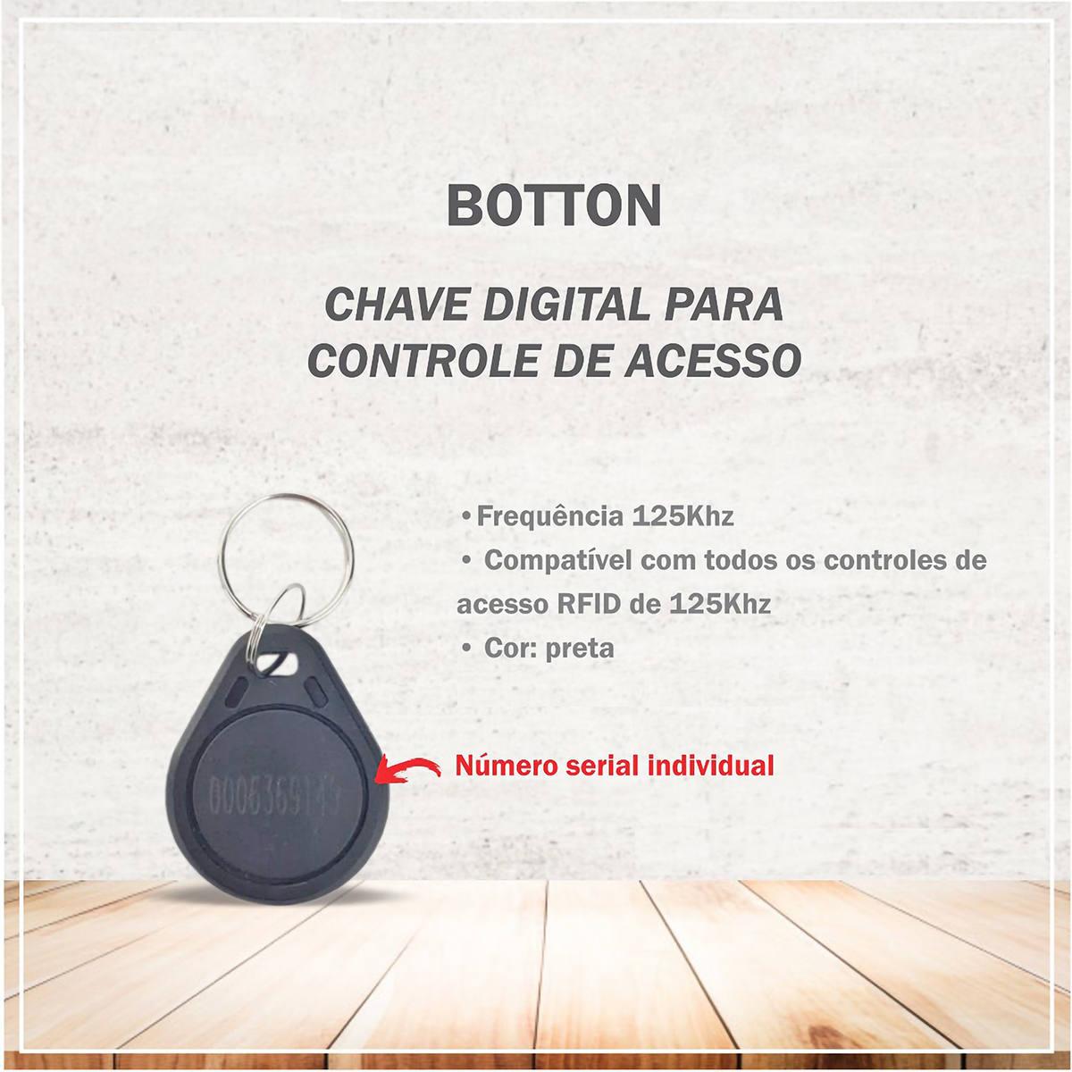 Chave Digital para Controle de Acesso por Proximidade RFID 125Khz Preto Ipec 02334