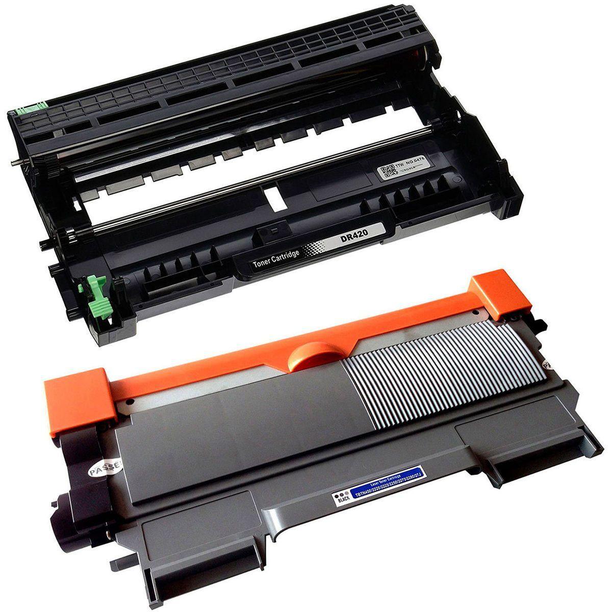 Compatível: Combo Fotocondutor DR420 + Toner TN450 TN420 TN410 para Brother DCP7065dn DCP7060 HL2270 DCP7055 MFC7860