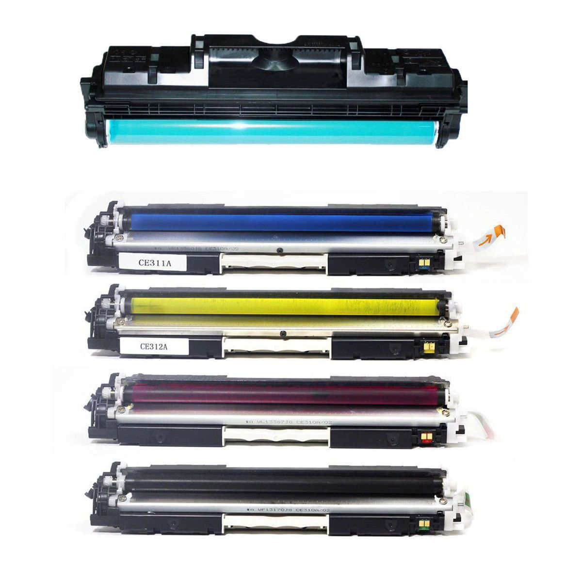 Compatível: Combo Tambor de Imagem CE314A + Kit Colorido de Toner 126A 130A para HP CP1020 CP1025 M175a M176n M177fw