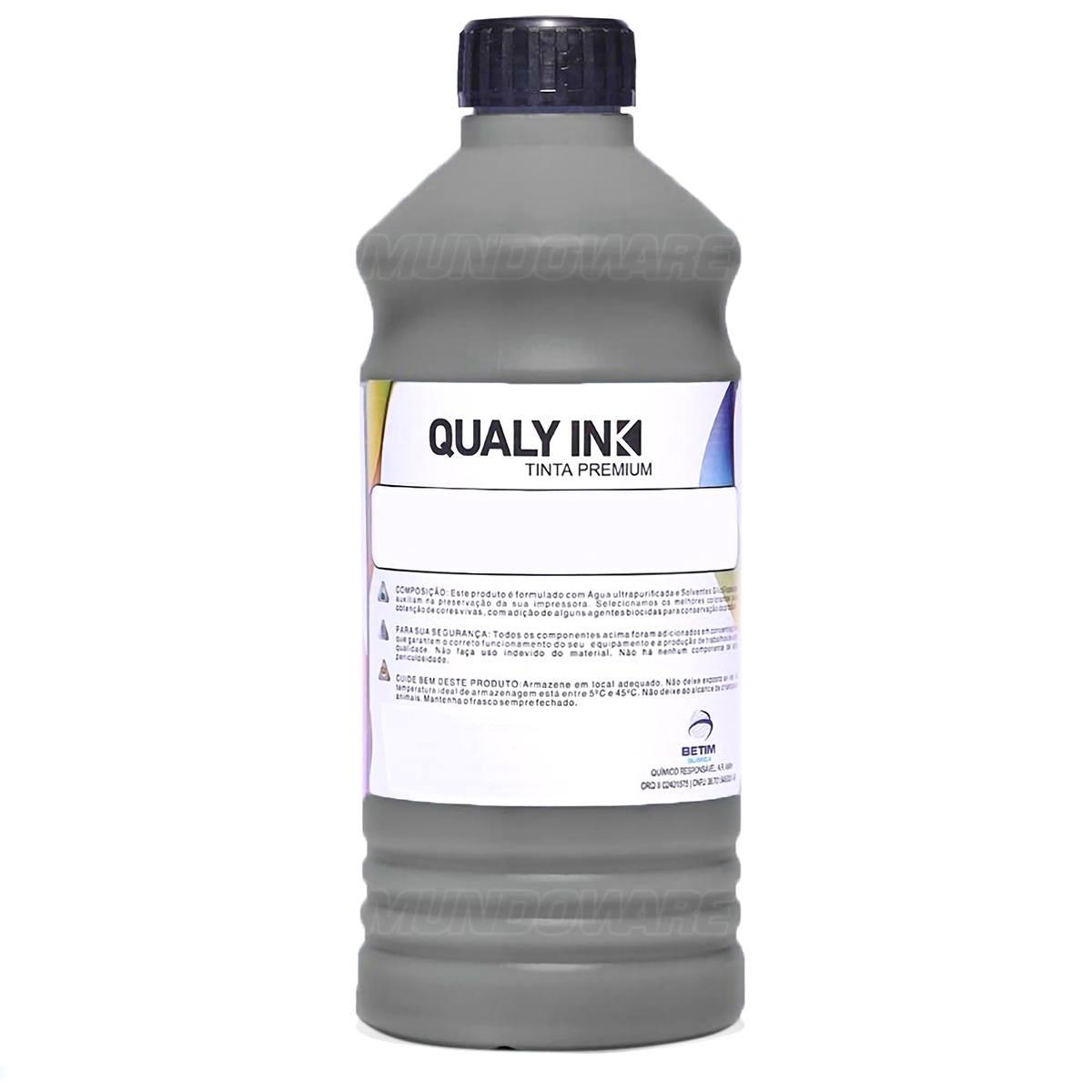 Compatível: Tinta Pigmentada Qualy-Ink BP3E-1532 Série 504 / 544 para Epson L3150 L4168 L6160 L6161 Preto 1L