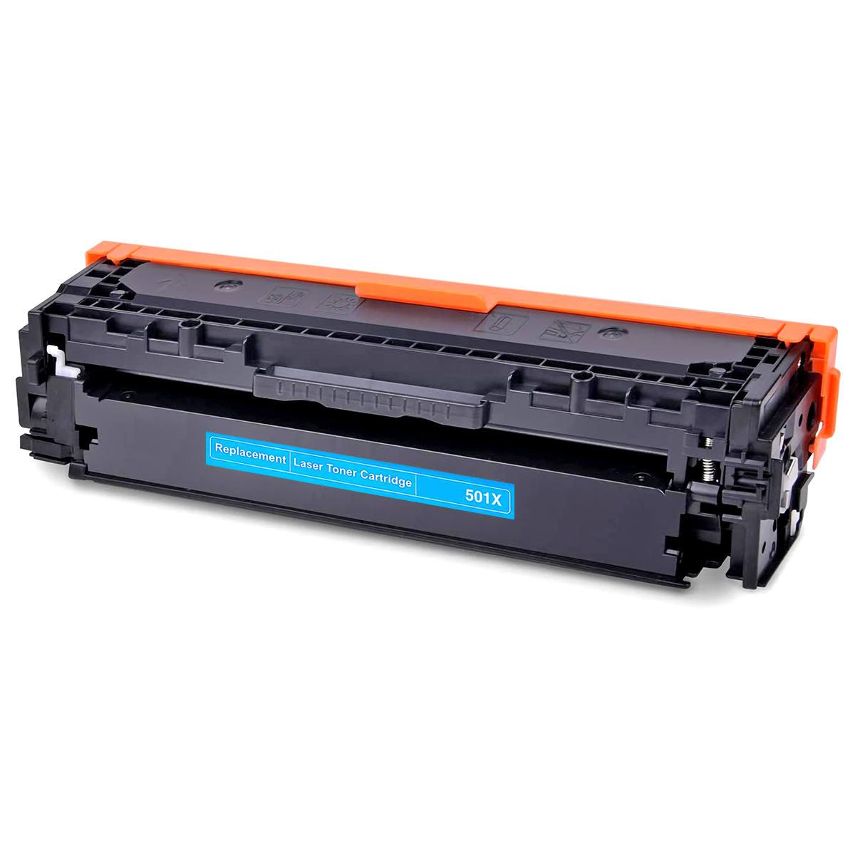Compatível: Toner CF-501X 202X para Impressora HP M281 M281nw M281cdw M280 M280nw M254 M254dn M254dw Ciano 2.500