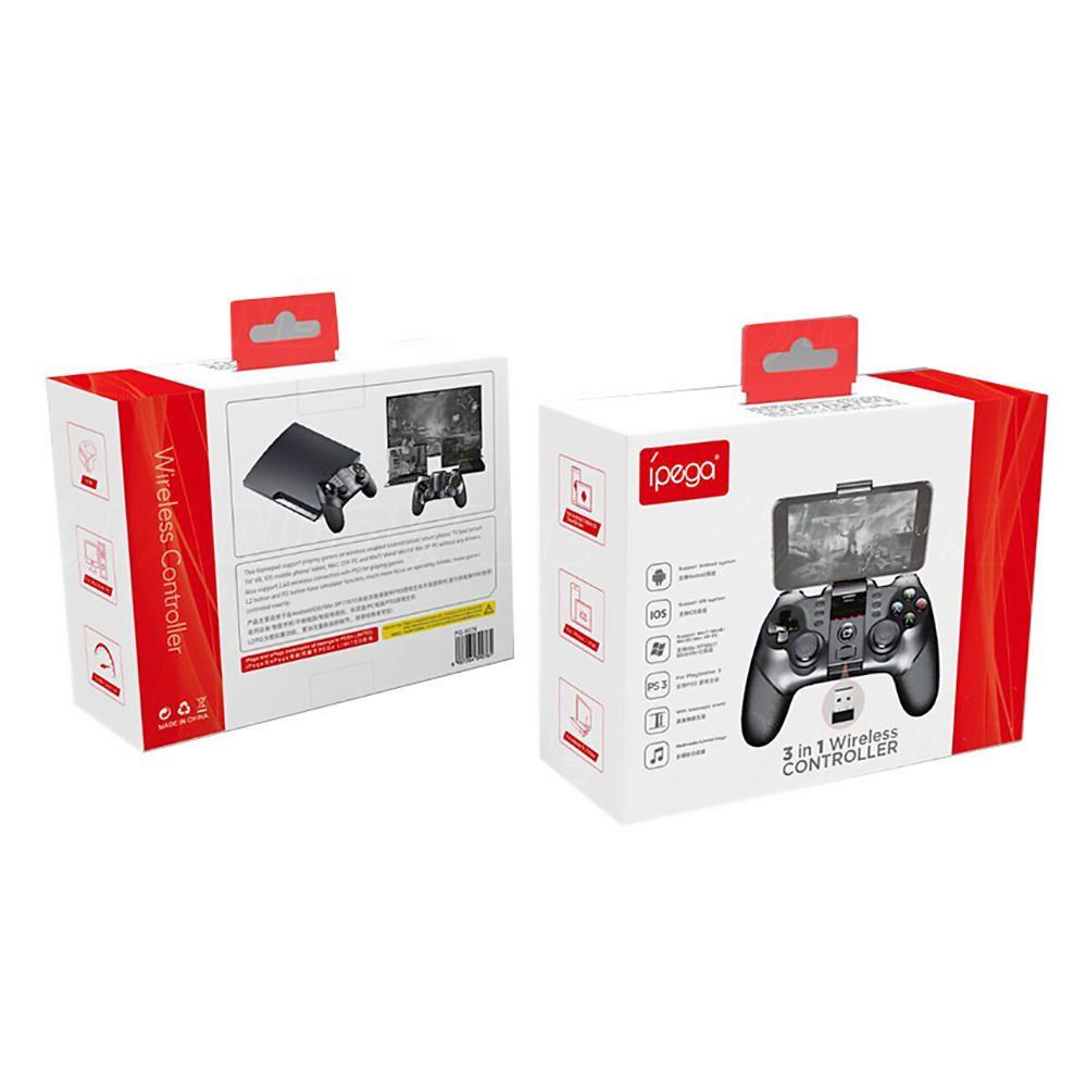 Controle para Celular Android Smart TV PC 3 em 1 Gamepad Bluetooth IPEGA PG-9076 Original