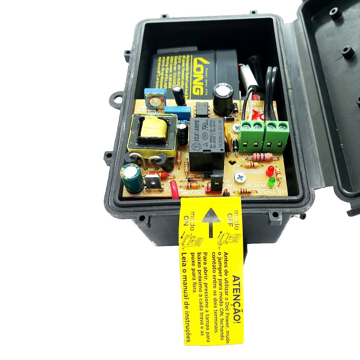 Dot Power Fonte Nobreak 12W 12V/1,2Ah Entrada 90V-265V para Equipamentos até 1A Vedação Contra Chuva Ragtech 4650
