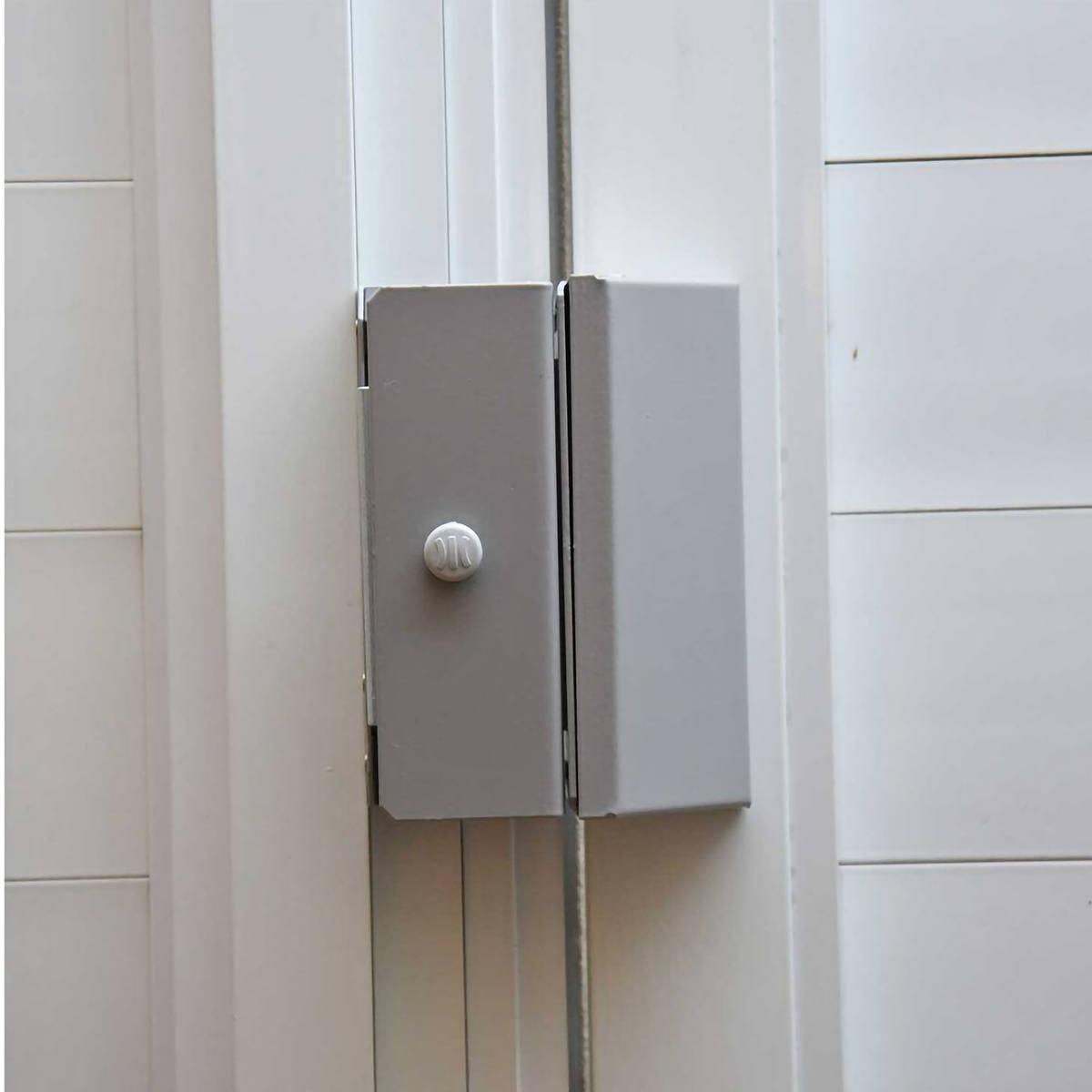 Fechadura Magnética com Trava Eletromagnética Tração de 150 Kg Pivotante ou Deslizante Ipec M150 Eco A2077