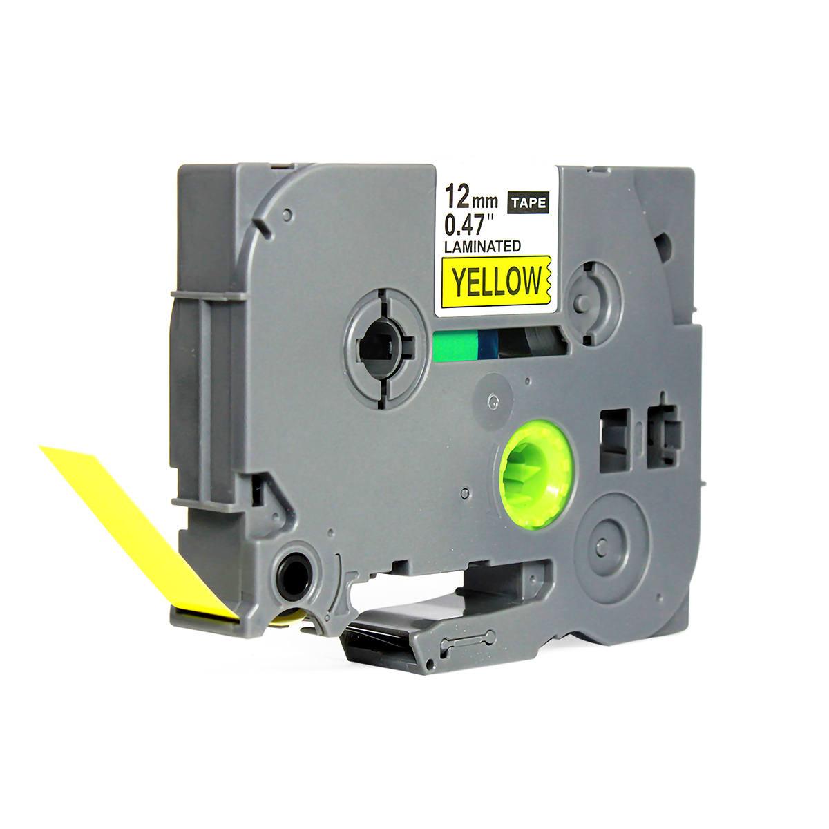 Fita Compatível para Rotulador 12mm x 8m Amarelo/Preto Marca X-Full Referência TZc-631 TZe-631 TZ-631 para Brother