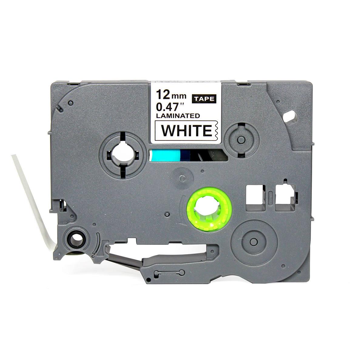 Fita Compatível para Rotulador 12mm x 8m Branco/Preto Marca X-Full Referência TZc-231 TZe-231 TZ-231 para Brother