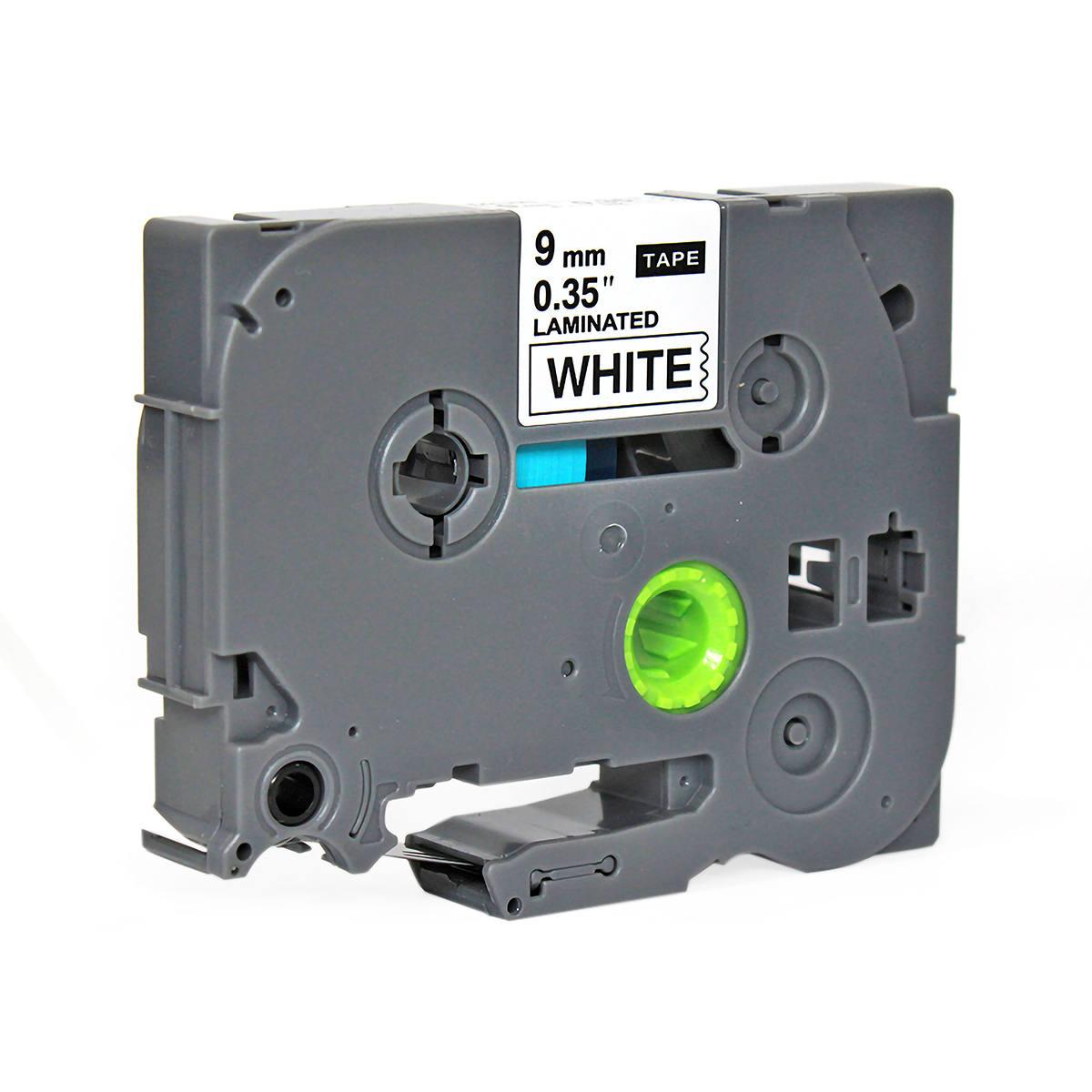 Fita Compatível para Rotulador 9mm x 8m Branco/Preto Marca X-Full Referência TZc-221 TZ-221 TZe-221 para Brother