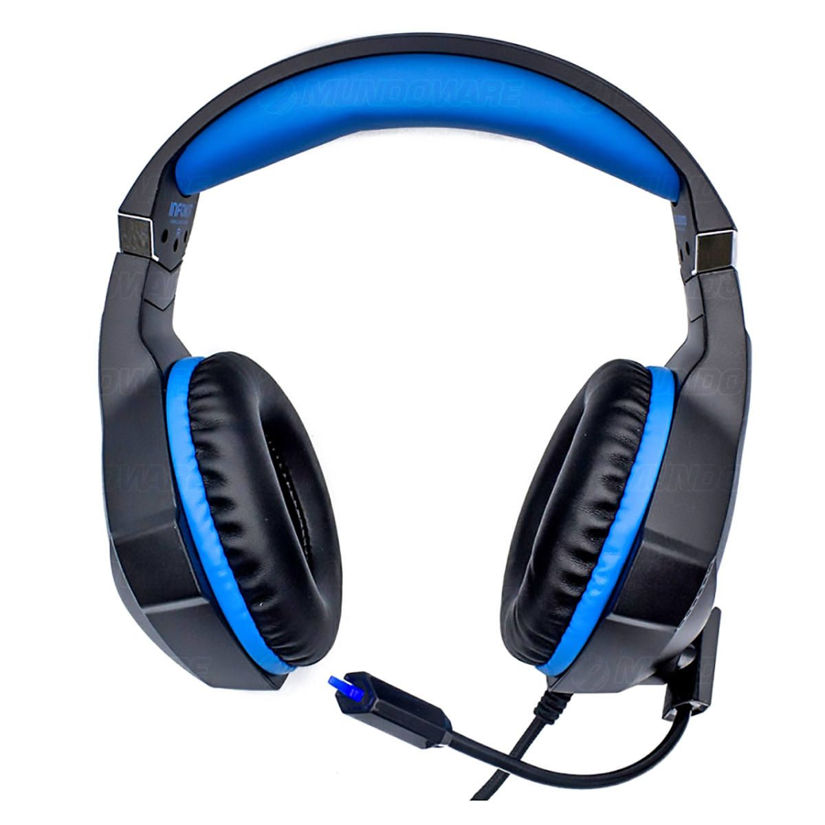 Headphone Gamer para PS4 PC Celular com Microfone Articulado LED RGB 7 Cores Almofada Extra Macia GH-X1000 Fone Azul