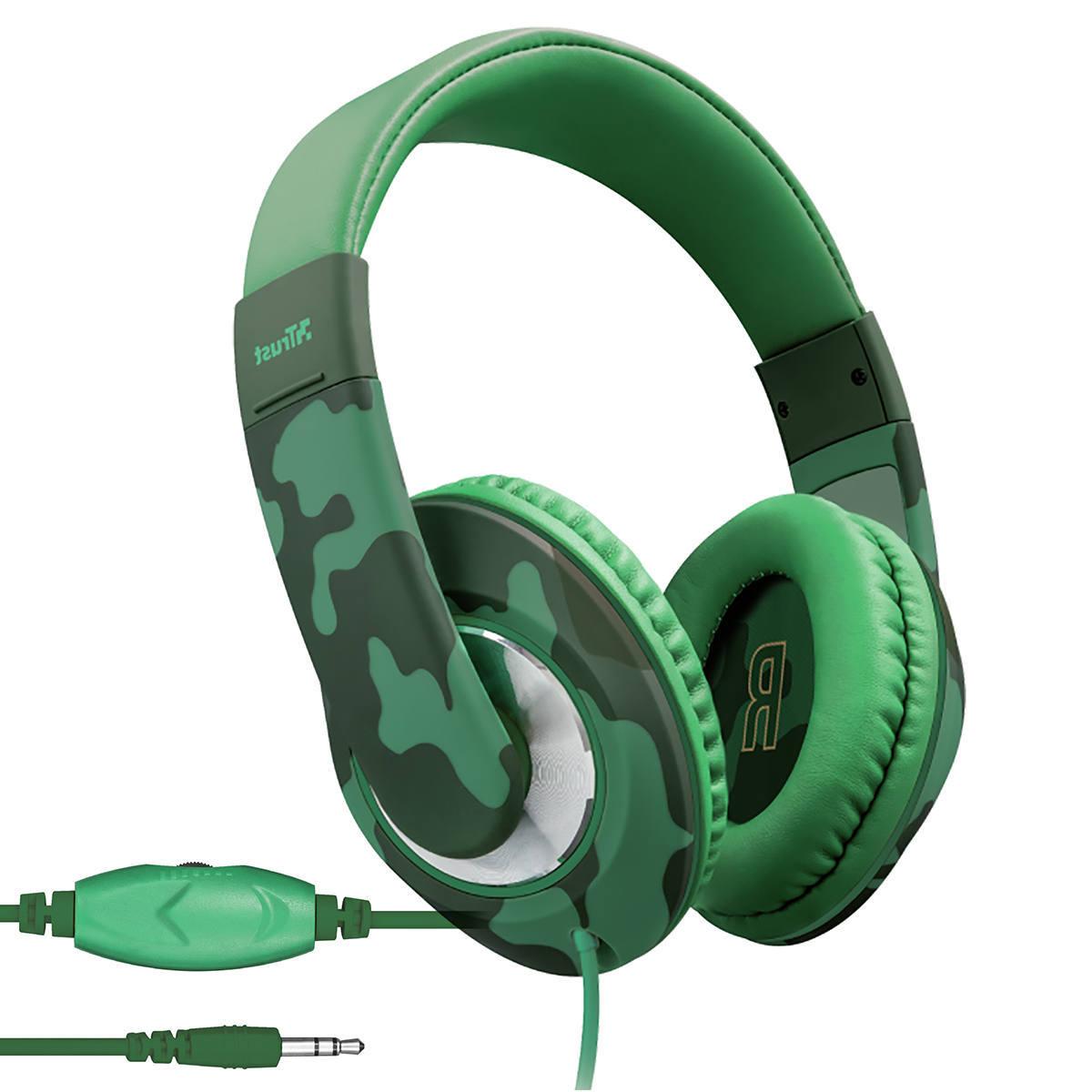 Headphone para Criança Com Limitador de Volume Protege Audição para Celular e Tablet Trust Sonin Kids Jungle Camo