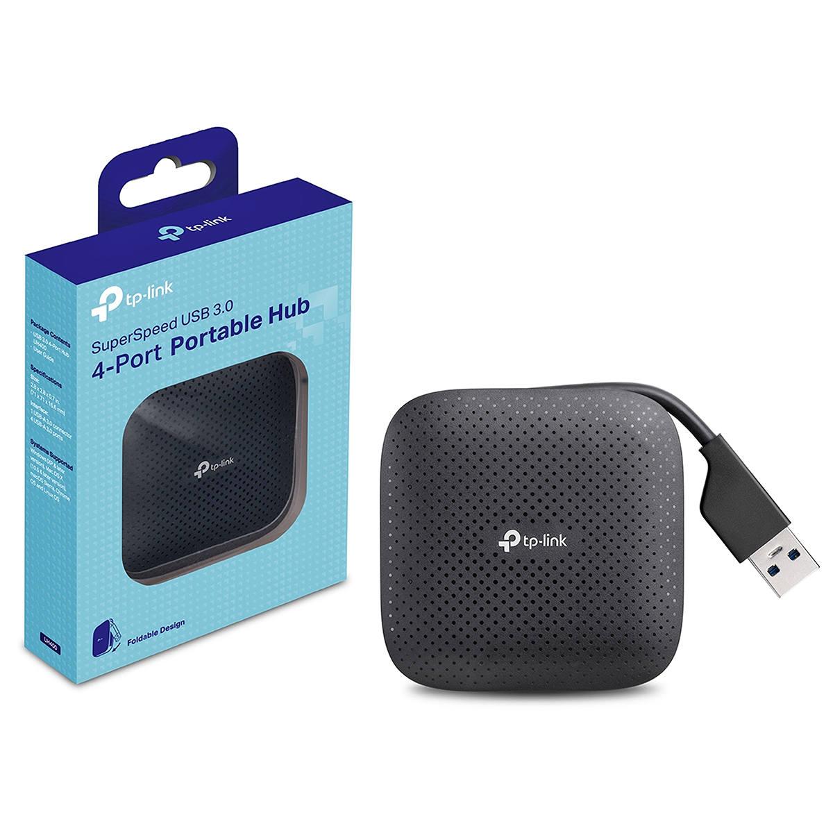 Hub USB 3.0 Portátil de 4 Portas USB de Alta Velocidade TP-Link UH400