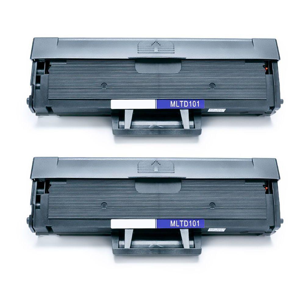 Compatível: Kit 2x Toner D101 MLT-D101S para Samsung ML-2160 2160w 2162g 2165 SCX-3400 3405fw 3406hw / Preto / 1.500