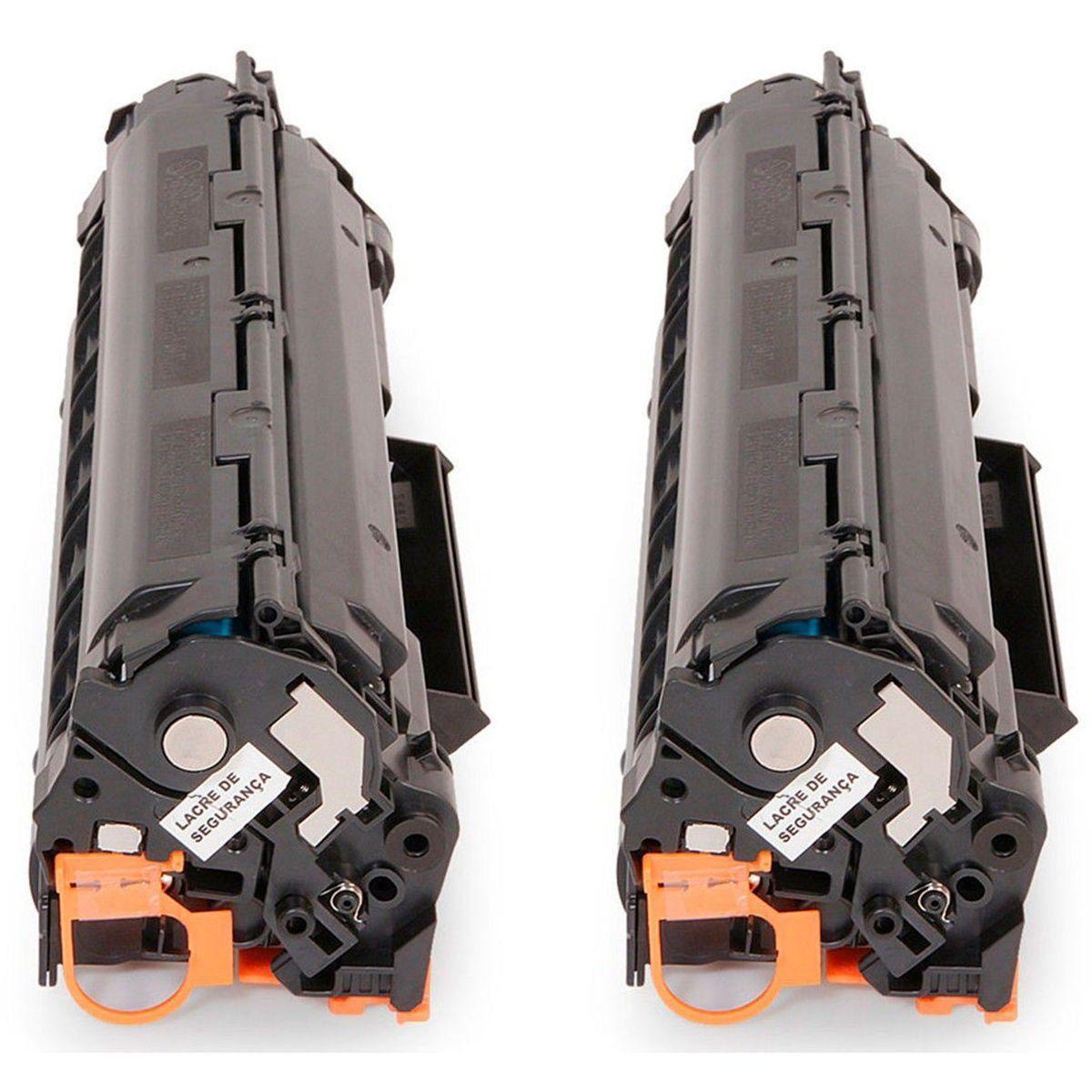 Compatível: Kit 2x Toner CE285A 285 para HP M1130 M1132 M1210 M1212 M1212nf P1102w 1102w 1130 1132 / Preto / 1.800