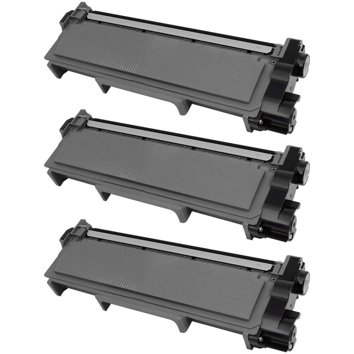 Compatível: kit 3x Toner TN-2340 TN-2370 TN-660 para Brother L2520 L2320 L2360 L2540 L2740 L2720 L2380 / Preto / 2.600