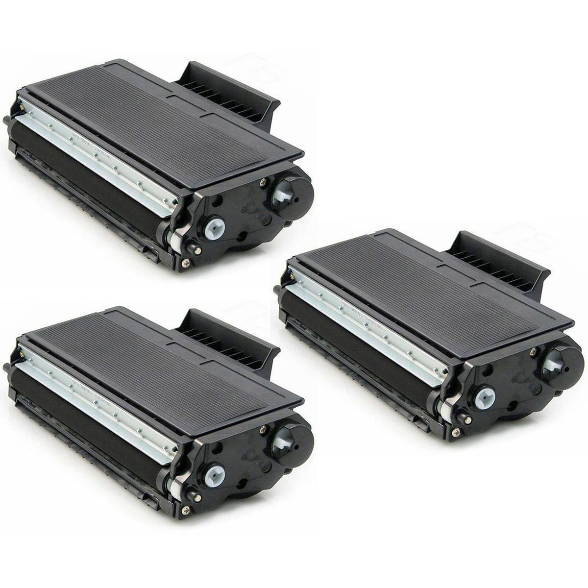 Compatível: Kit 3x Toner TN580 TN620 TN650 para Brother HL-5240 DCP-8060 8065 8080 8085 8660dn 8460n / Preto / 8.000