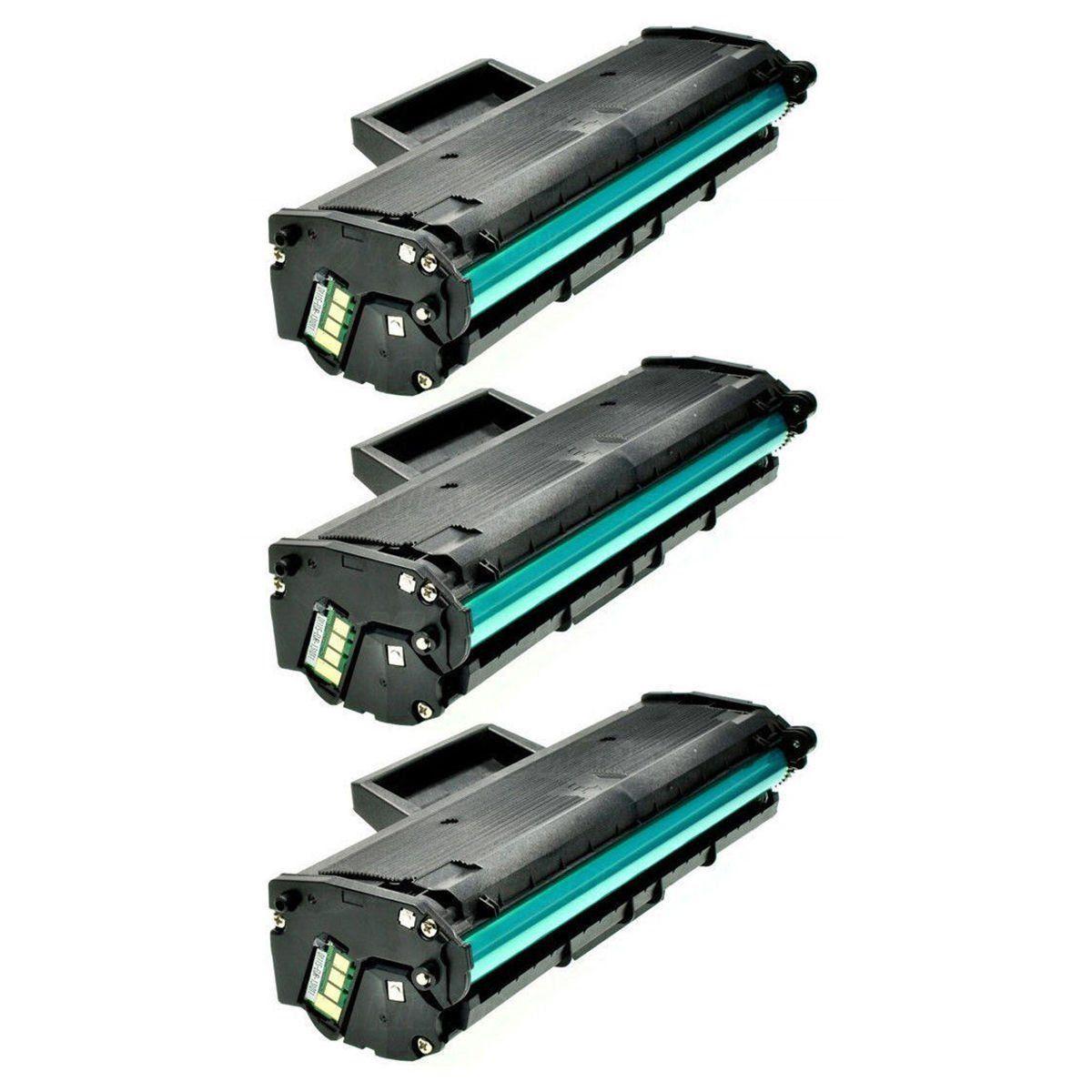 Compatível: Kit 3x Toner MLT-D111S para Samsung M2070 M2070w M2070fw M2022 M2022w M2020 M2020w M2020fw / Preto / 1.000