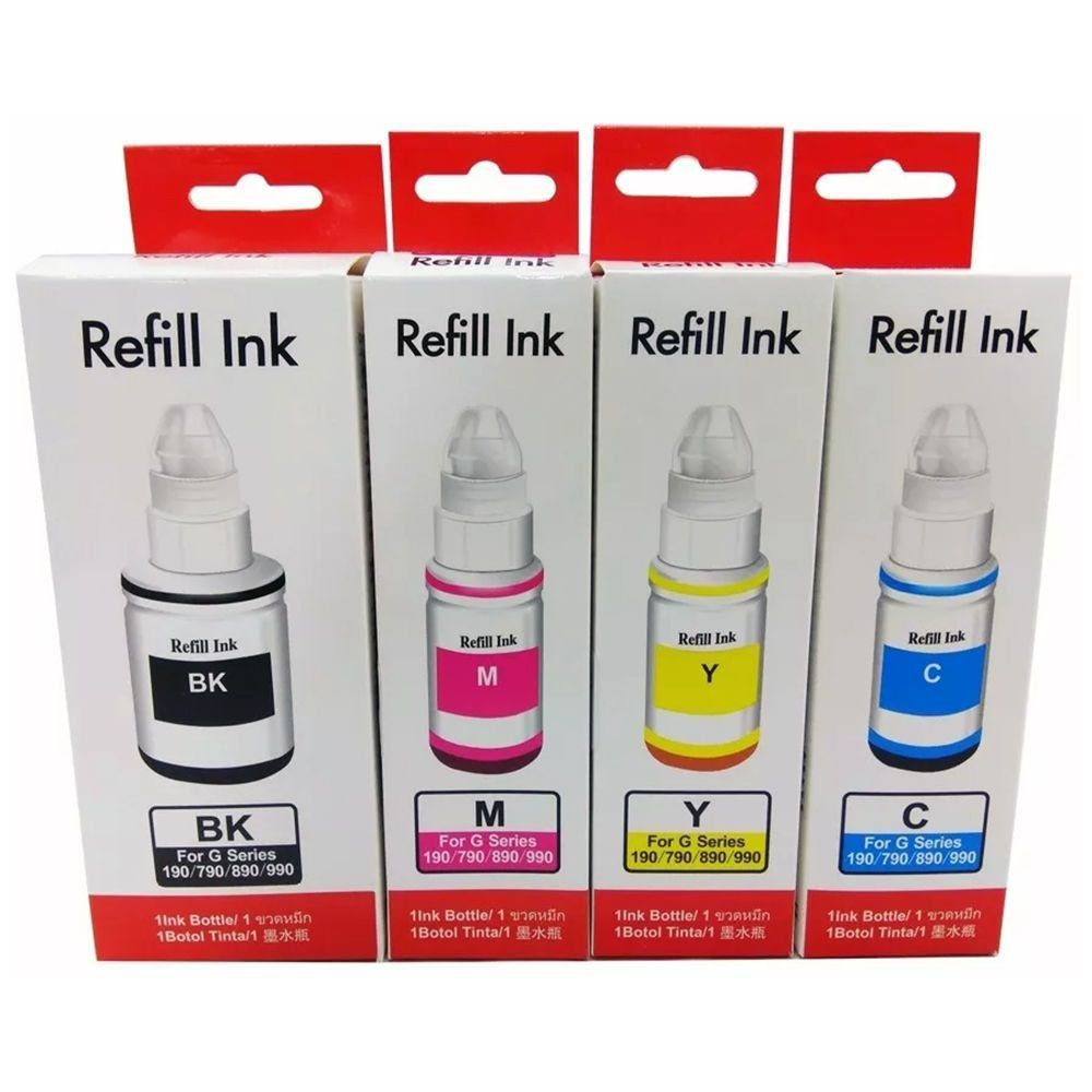 Compatível: Kit Colorido de Tinta para Canon G1000 G2000 G3000 G1100 G2100 G3100 G3102 G1800 G2800 G1900 G2900 G3900