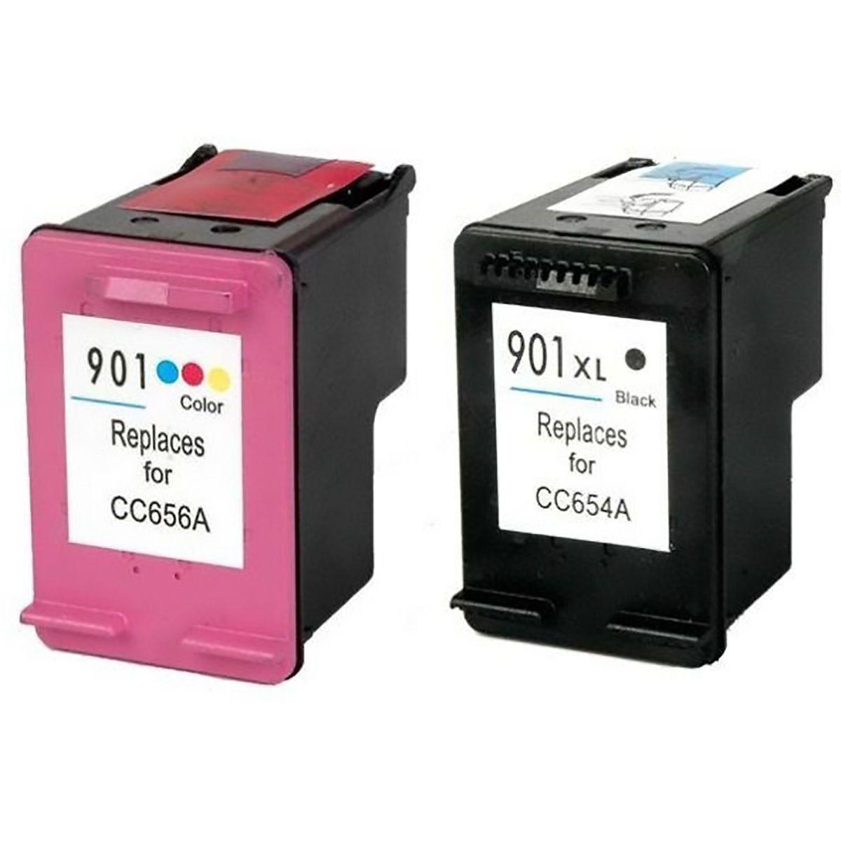Compatível: Kit Colorido de Cartucho de Tinta 901 para Impressora HP J4540 J4550 J4580 J4680 J4660 J4500 4540
