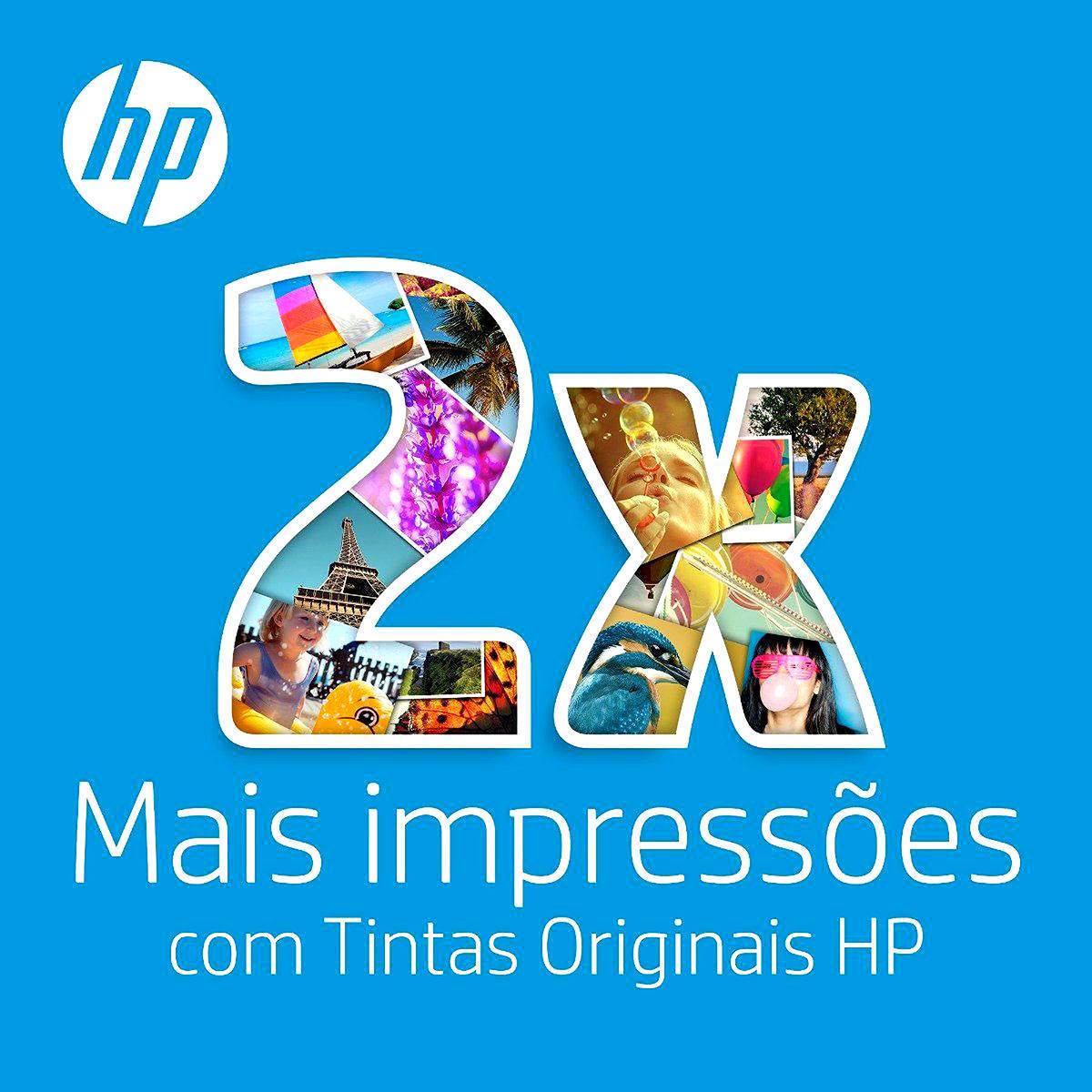 Kit Cartucho de Tinta HP 664XL Preto + 664XL Colorido para HP Deskjet 1115 2136 2676 4676 5276 Original Alto Rendimento
