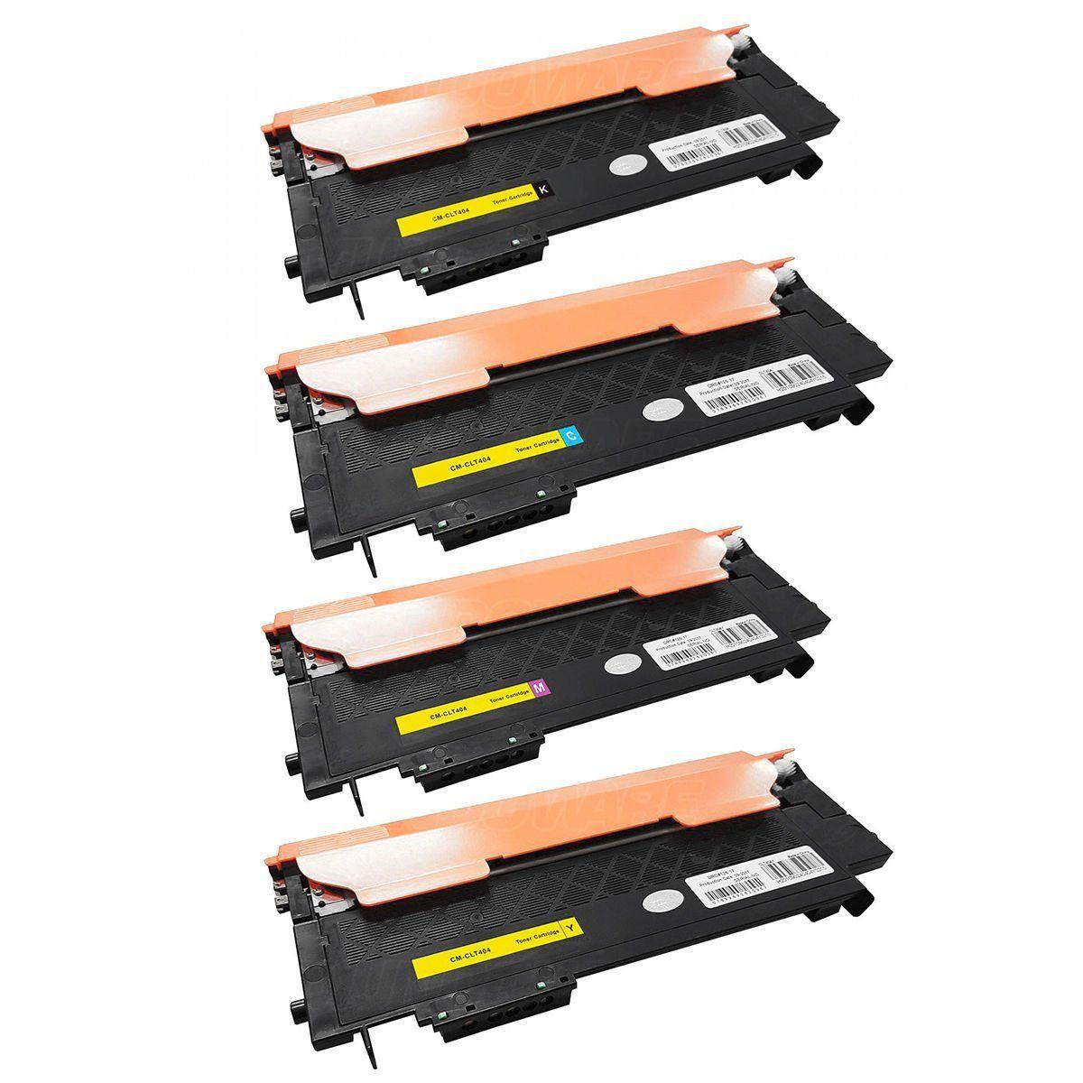 Compatível: Kit Colorido de Toner CLT404 404S para Impressora Samsung SL-C430 C430w C480 C480w C480fn C480fw