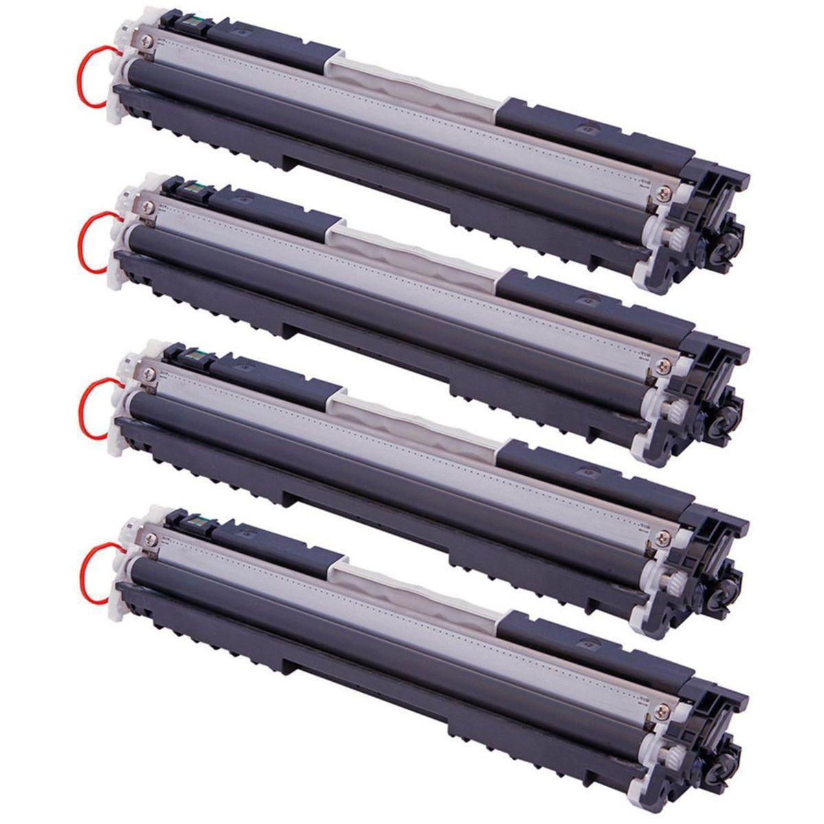 Compatível: Kit Colorido de Toner 126A 130A para Impressora HP CP1025 CP1025nw CP1020 M175a M175nw M176n M177fw M275nw