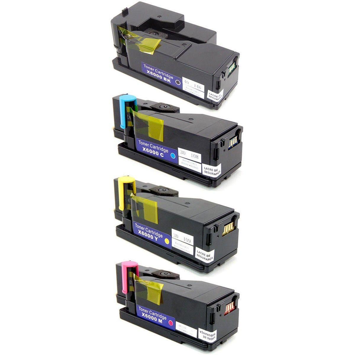 Compatível: Kit Colorido de Toner 106R01634 106R01631 106R01633 106R01632 para Xerox 6000 6010 6015 6015b 6015ni