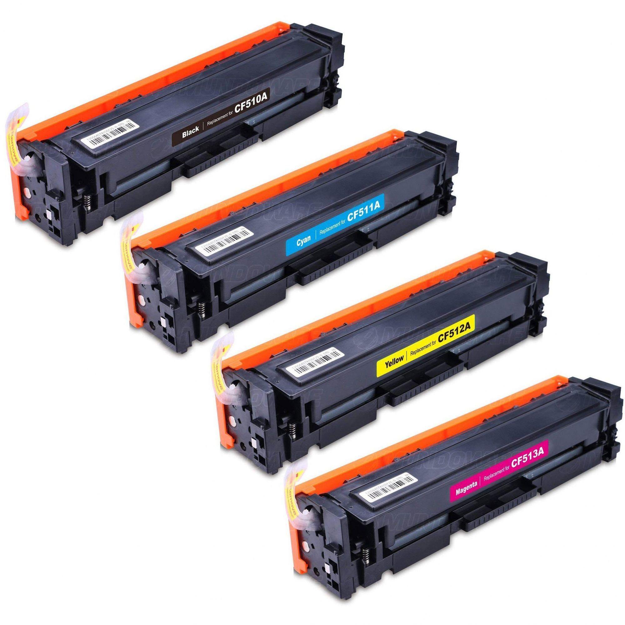 Compatível: Kit Colorido de Toner CF510A CF511A CF512A CF513A 204A para HP M154a M154nw M180n M180nw M181 M181fw 154nw